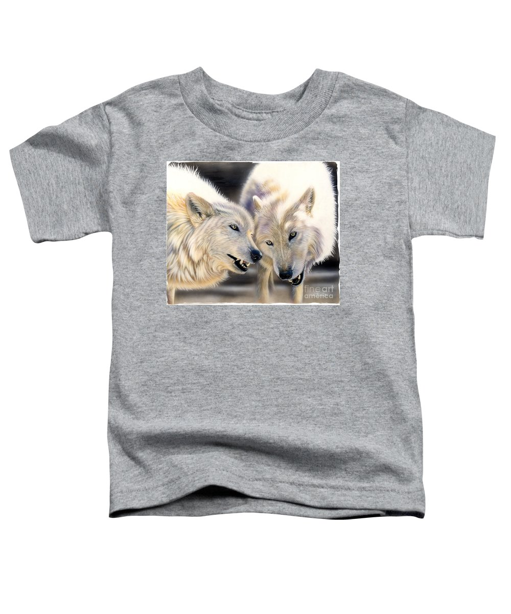 Acrylics Toddler T-Shirt featuring the painting Arctic Pair by Sandi Baker