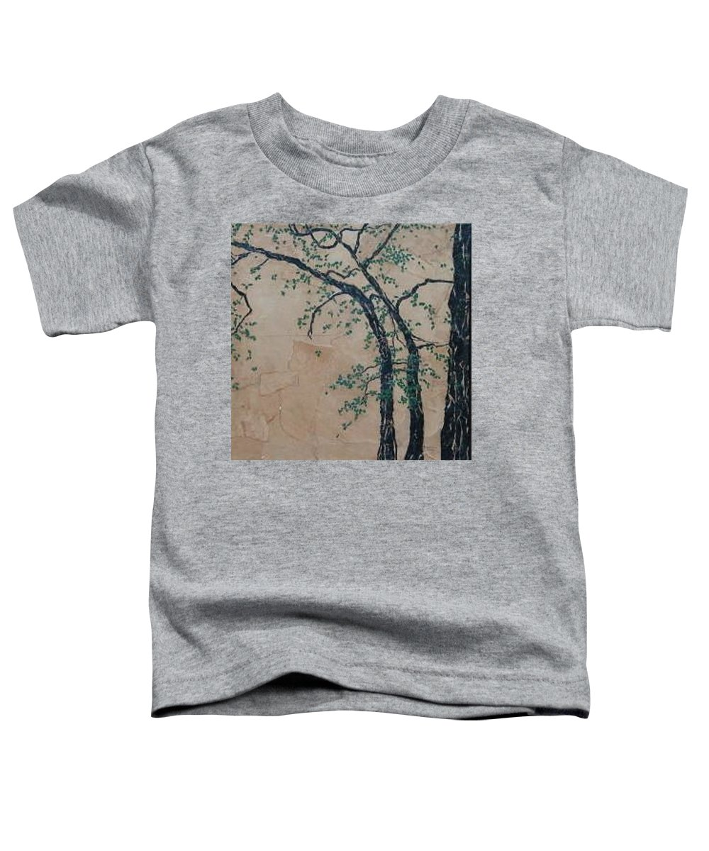 Leafy Tree Toddler T-Shirt featuring the painting Canandaigua Lake by Leah Tomaino