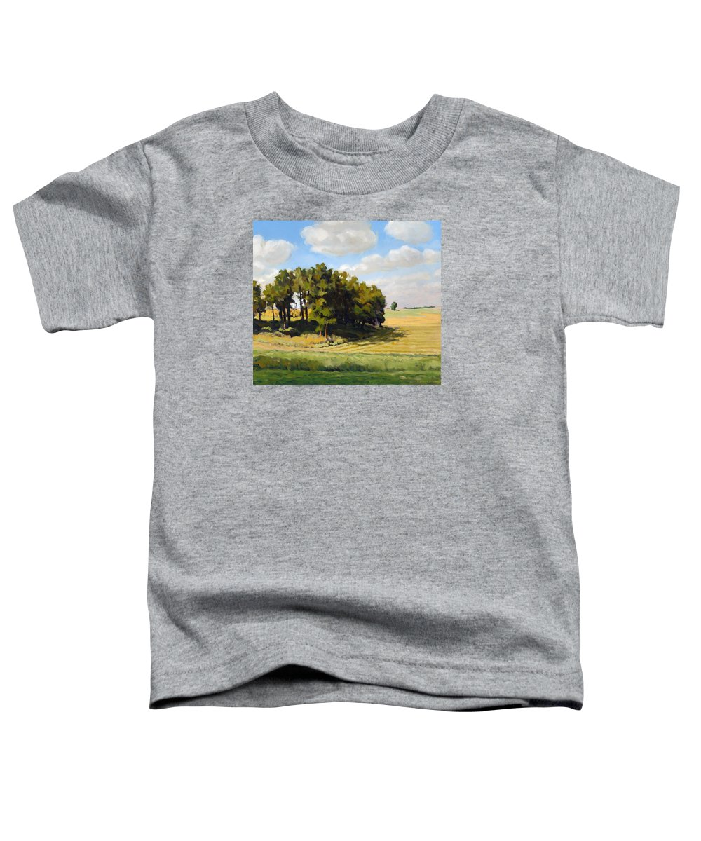 Landscape Toddler T-Shirt featuring the painting September Summer by Bruce Morrison