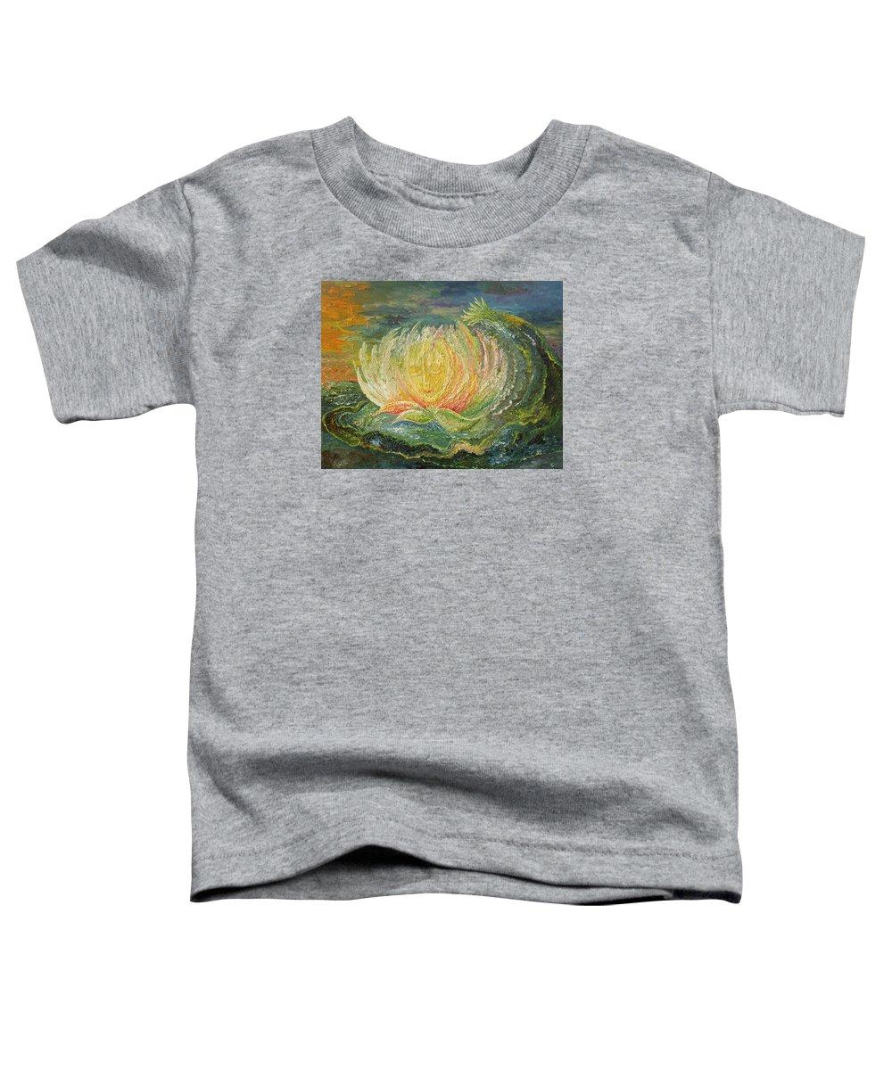 Flower Toddler T-Shirt featuring the painting Sweet Morning Dream by Karina Ishkhanova