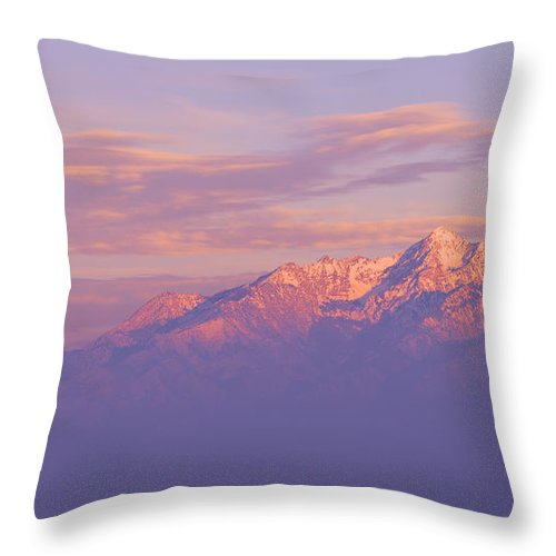 Mountain Throw Pillow featuring the photograph Dreams by Chad Dutson