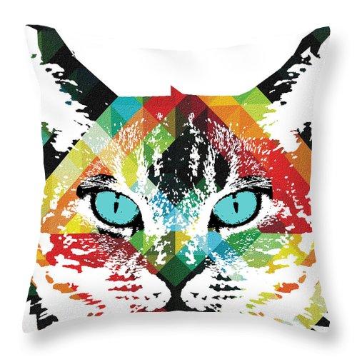 Acid Cat Dream By Robert R Throw Pillow For Sale By Robert