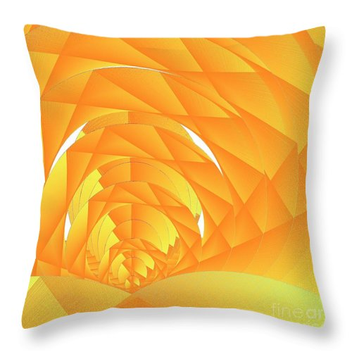 Cyber Sun Throw Pillow featuring the digital art As The Cyber Sun Shrinks And Sets by Michael Skinner