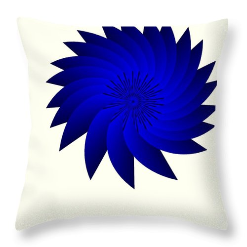 Blue Flower Throw Pillow featuring the digital art Blue Flower by Michael Skinner