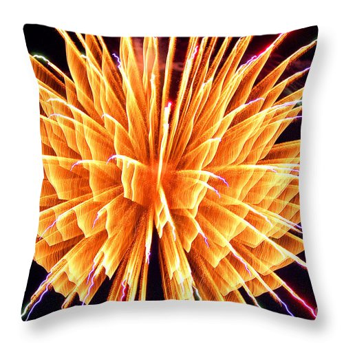 Diane Berry Throw Pillow featuring the photograph Boom by Diane E Berry