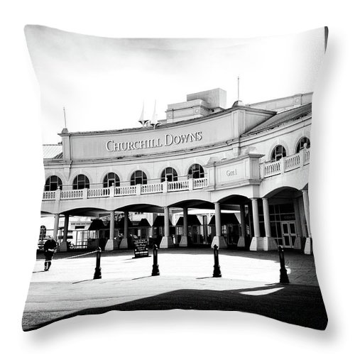 Churchill Downs Throw Pillow featuring the photograph Churchill Downs by Tanya Harrison