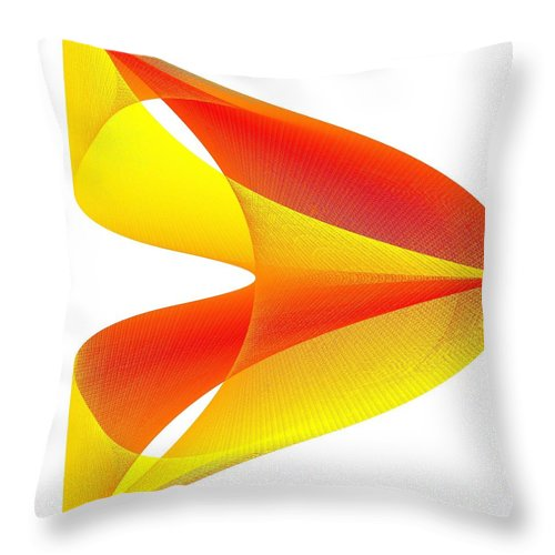 Cusp Throw Pillow featuring the digital art Cusp by Michael Skinner