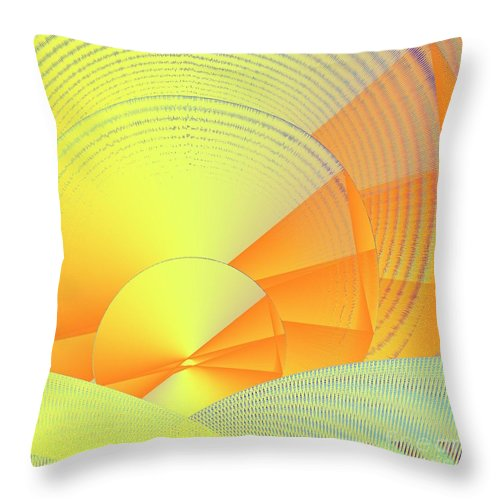 Digital Daylight Throw Pillow featuring the digital art Digital Daylight by Michael Skinner