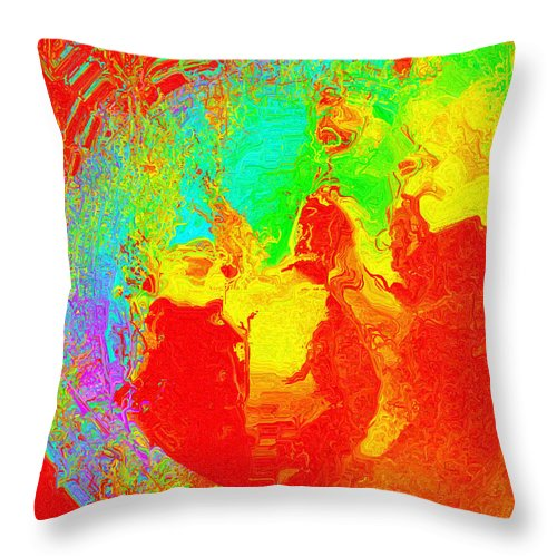 Digital Throw Pillow featuring the digital art Efflorescence by Charmaine Zoe