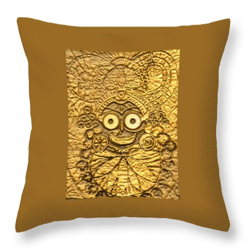 Throw Pillows Matching Curtains : Embossed Jagannath Throw Pillow for Sale by Michael African Visions