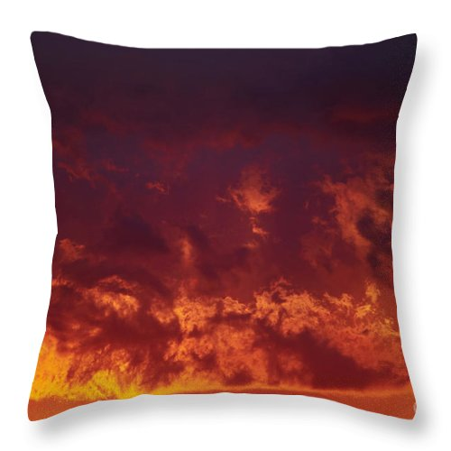Sunset Throw Pillow featuring the photograph Fiery Clouds by Michal Boubin