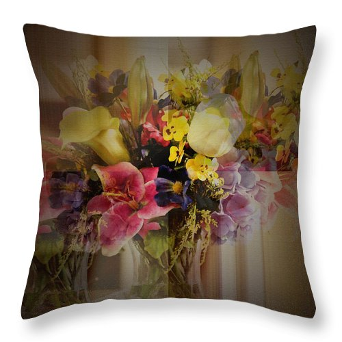 Throw Pillow Arrangement : Floral Arrangement Throw Pillow for Sale by Robert G Kernodle
