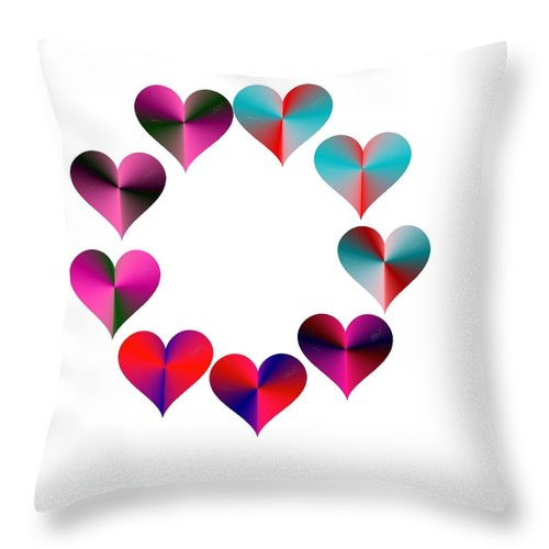 I Heart Rainbows Throw Pillow featuring the digital art I Heart Rainbows by Michael Skinner