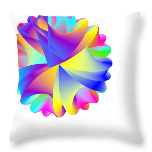 Rainbow Cluster Throw Pillow featuring the digital art Rainbow Cluster by Michael Skinner