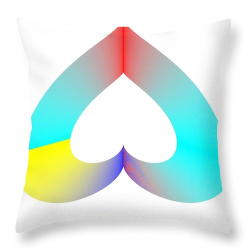 Sos Rainbow Throw Pillow featuring the digital art Rainbow Sos by Michael Skinner