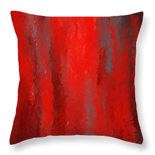 Throw Pillows Girly : Red And Bold - Red And Gray Art Throw Pillow for Sale by Lourry Legarde