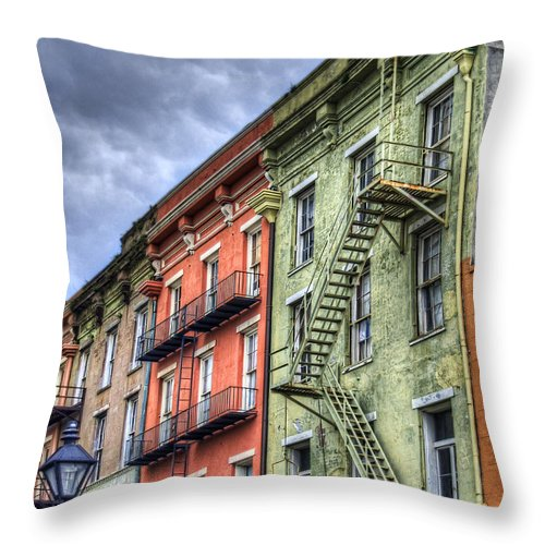 Rue Throw Pillow featuring the photograph Rue Bienville by Tammy Wetzel