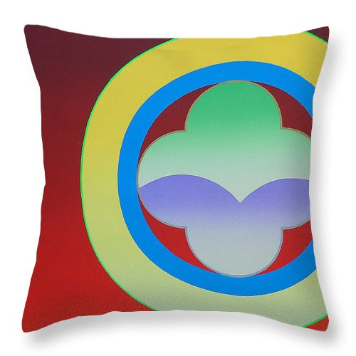 Insignia Throw Pillow featuring the painting Sunlight by Charles Stuart