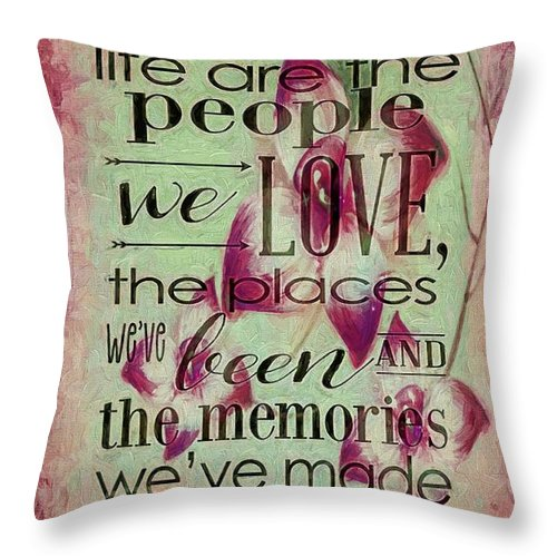 Best Decorative Pillow Websites : The Best Things In Life 2 Throw Pillow for Sale by Todd and candice Dailey - 14