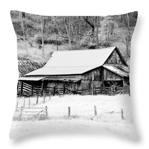 Barn Throw Pillow featuring the photograph Winter's White Shroud by Tom Mc Nemar