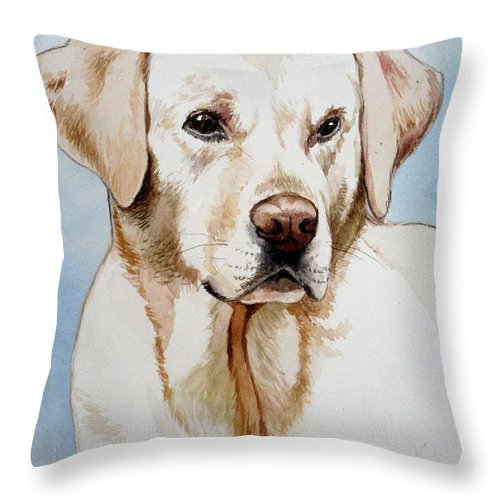 Yellow Lab Throw Pillow for Sale by Christopher Shellhammer