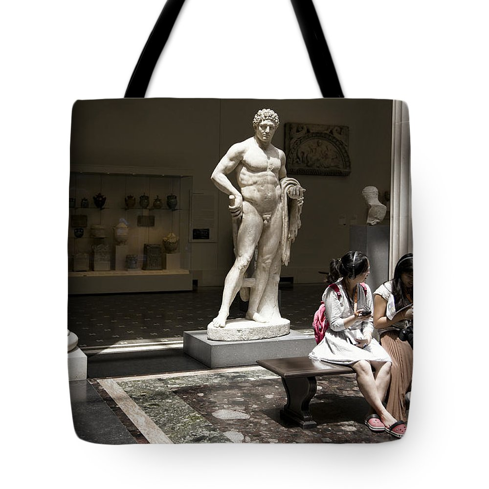 Marble Tote Bag featuring the photograph Practicing Immobility by Joanna Madloch