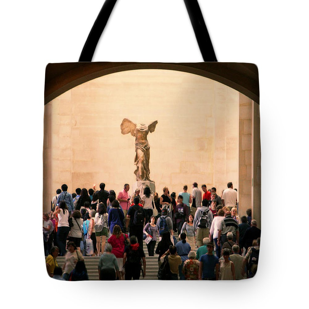 Nike Tote Bag featuring the photograph Walking Towards Victory by Joanna Madloch