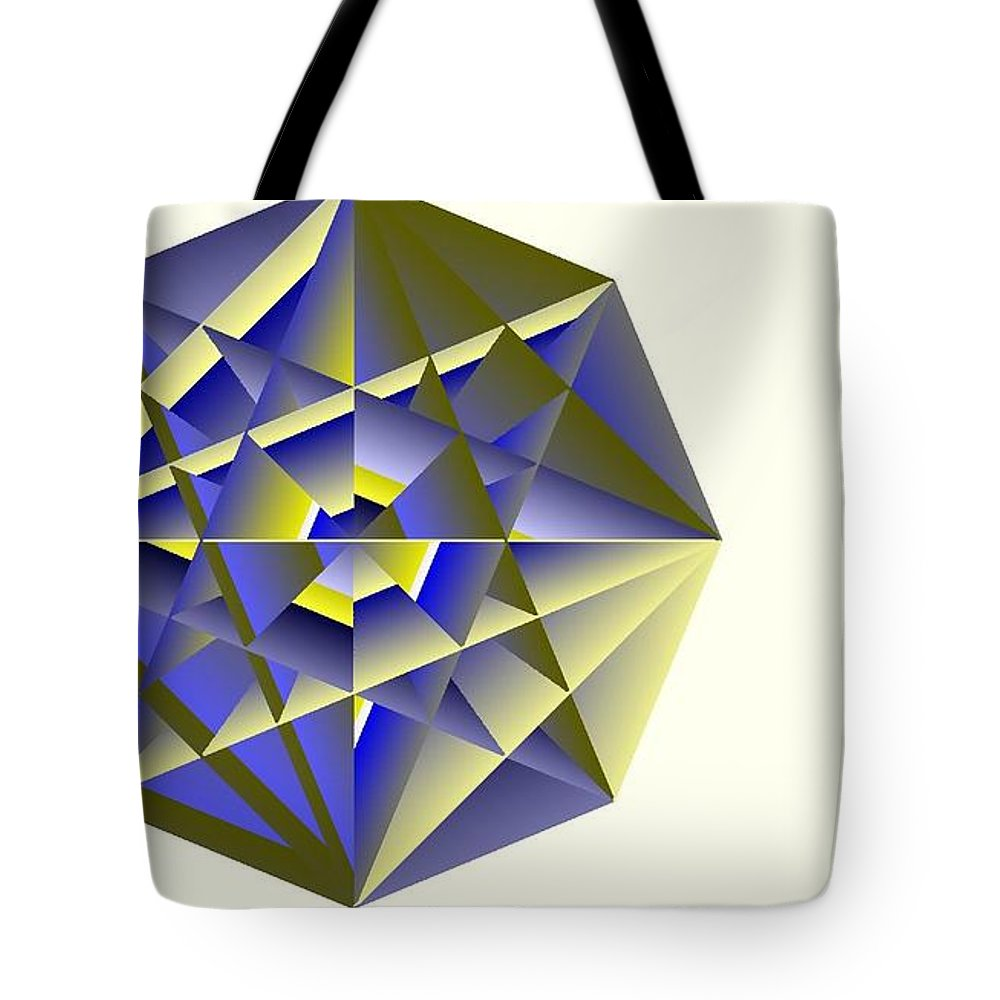 Digital Medallion Tote Bag featuring the digital art Medallion by Michael Skinner