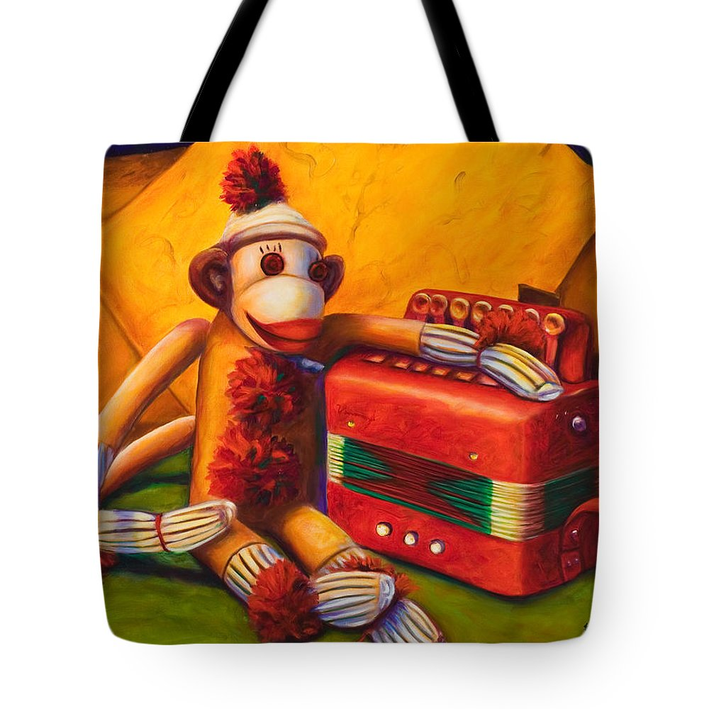Children Tote Bag featuring the painting Accordion by Shannon Grissom