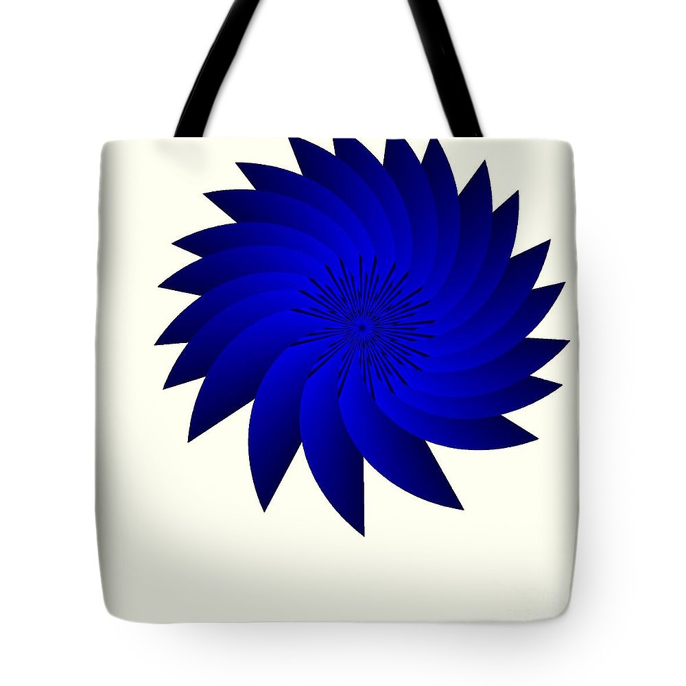 Blue Flower Tote Bag featuring the digital art Blue Flower by Michael Skinner