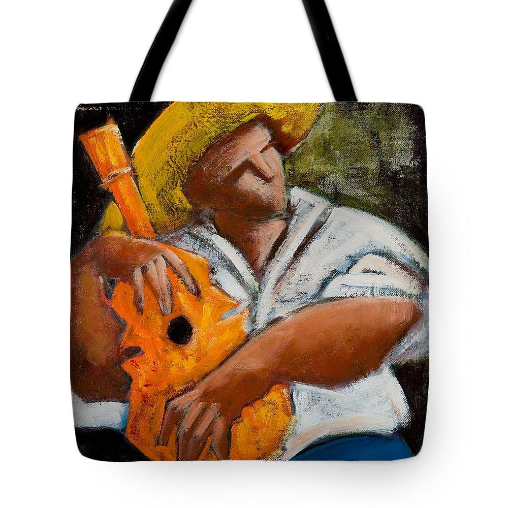 Puerto Rico Tote Bag featuring the painting Bravado Alla Prima by Oscar Ortiz