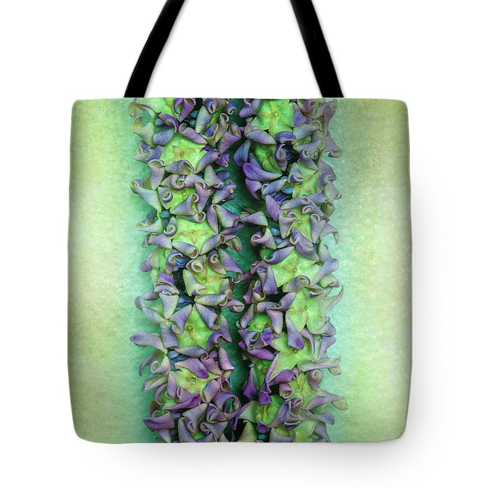 Floral Tote Bag featuring the photograph Crown Flower Lei by Jade Moon