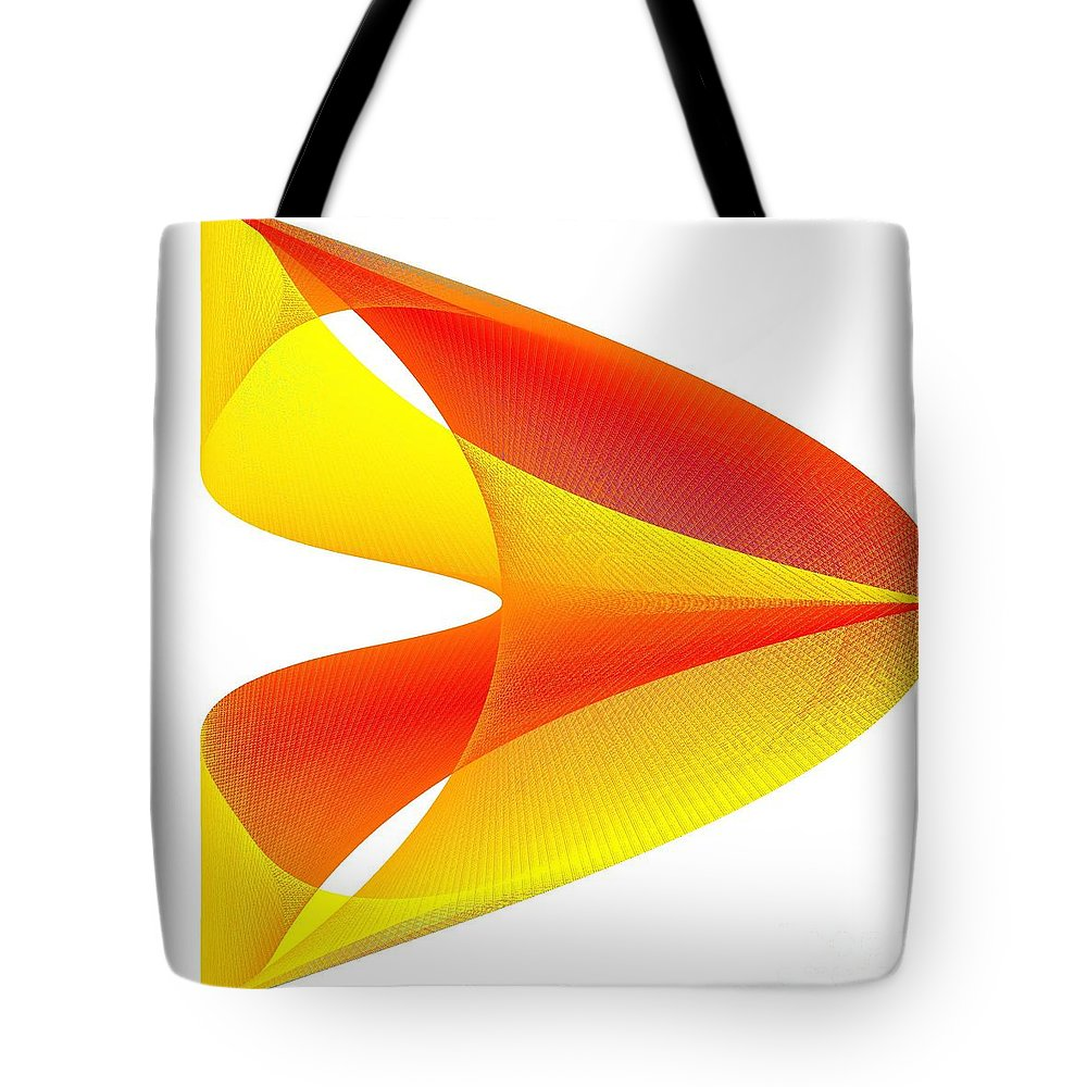 Cusp Tote Bag featuring the digital art Cusp by Michael Skinner