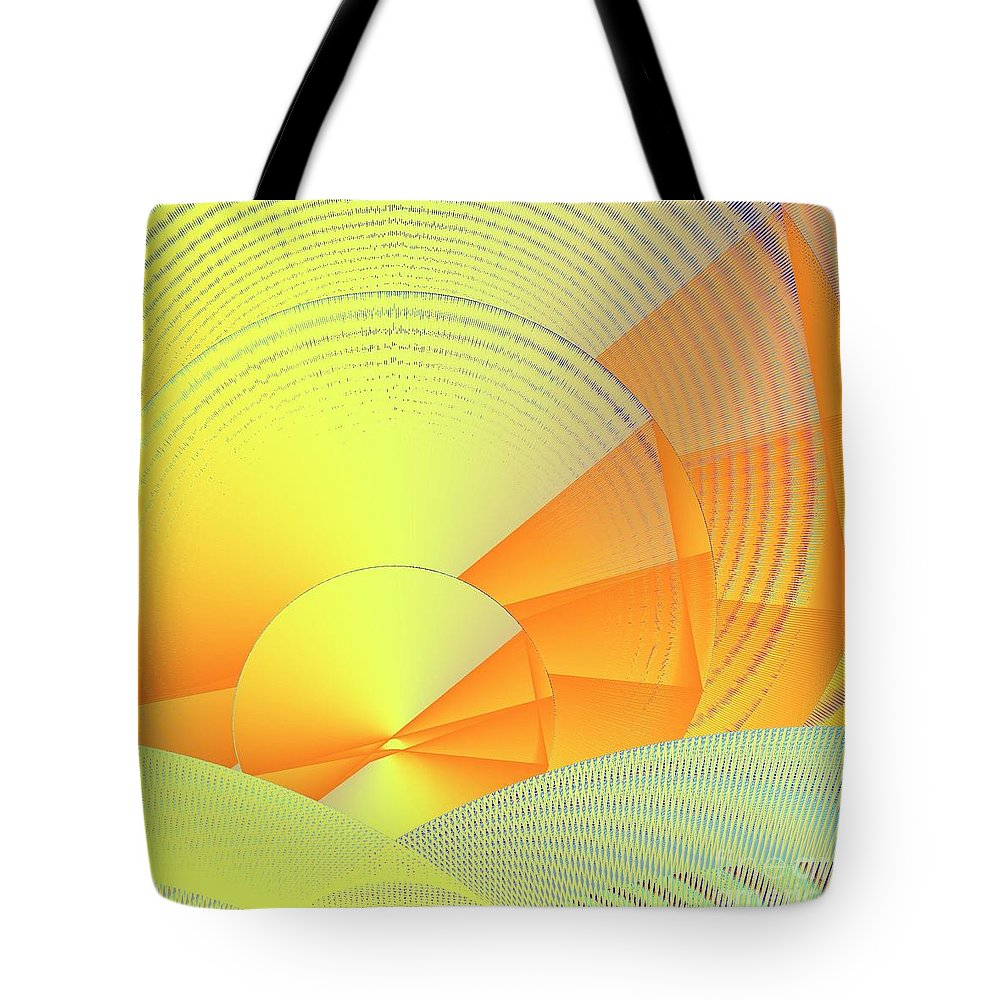 Digital Daylight Tote Bag featuring the digital art Digital Daylight by Michael Skinner