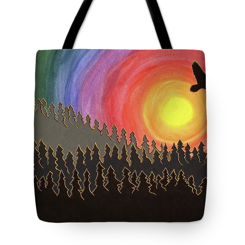 Tote Bag featuring the painting Fire Eagle by Michele Bullock