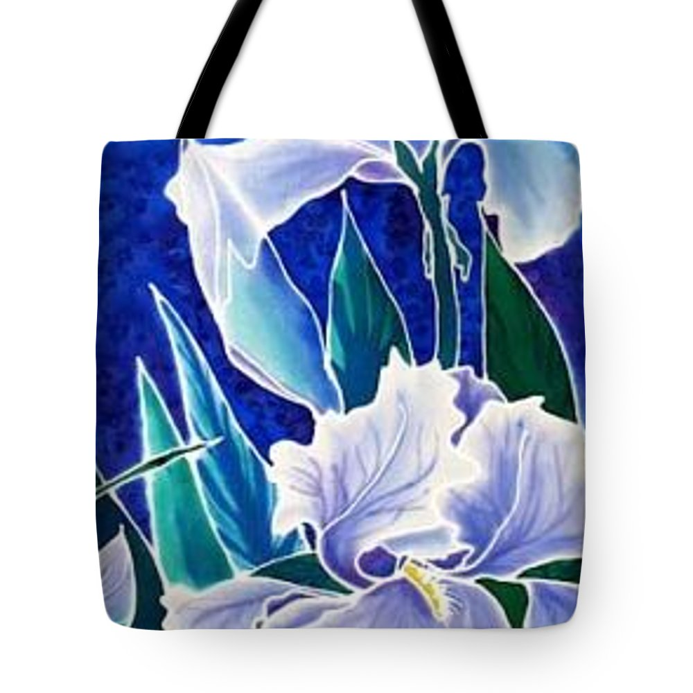 Iris Tote Bag featuring the painting Iris by Francine Dufour Jones