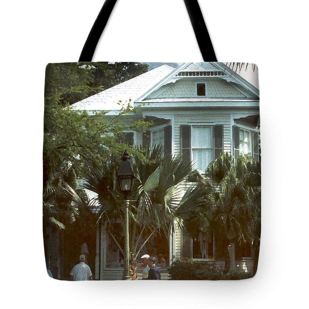 Historic Tote Bag featuring the photograph Keywest by Steve Karol