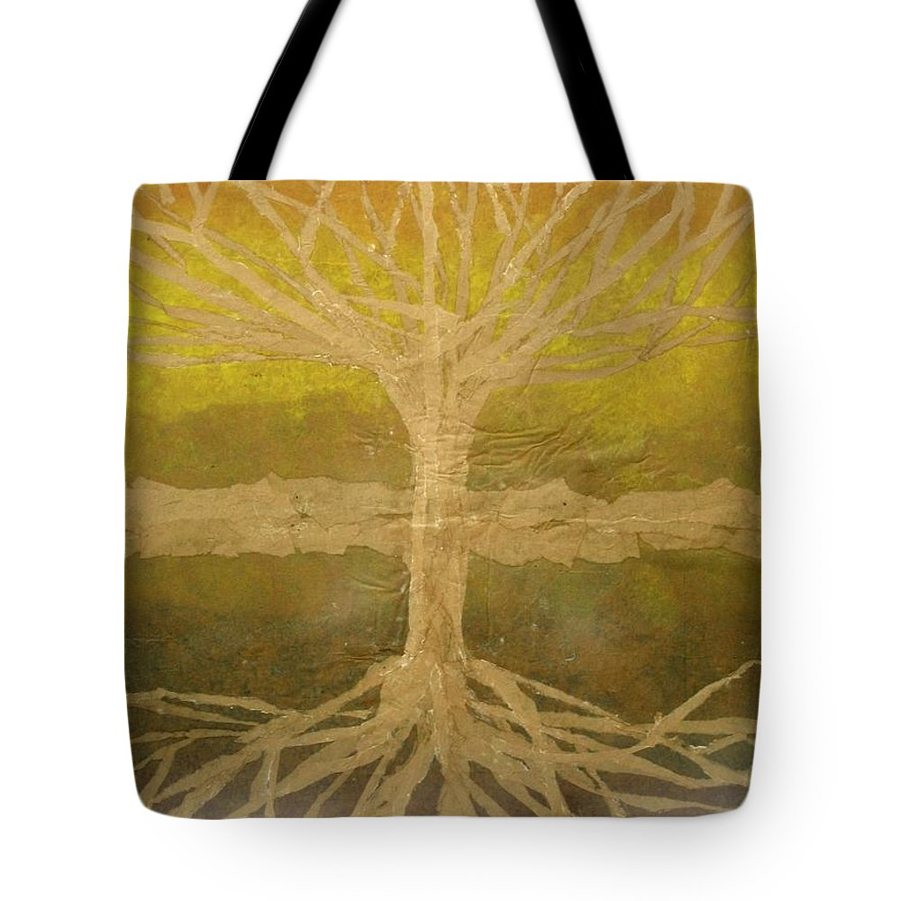 Abstract Tote Bag featuring the painting Meditation by Leah Tomaino