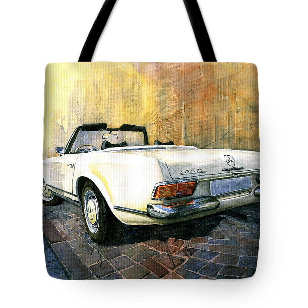 Mercedes benz w113 280 sl pagoda tote bag for sale by for Mercedes benz handbags