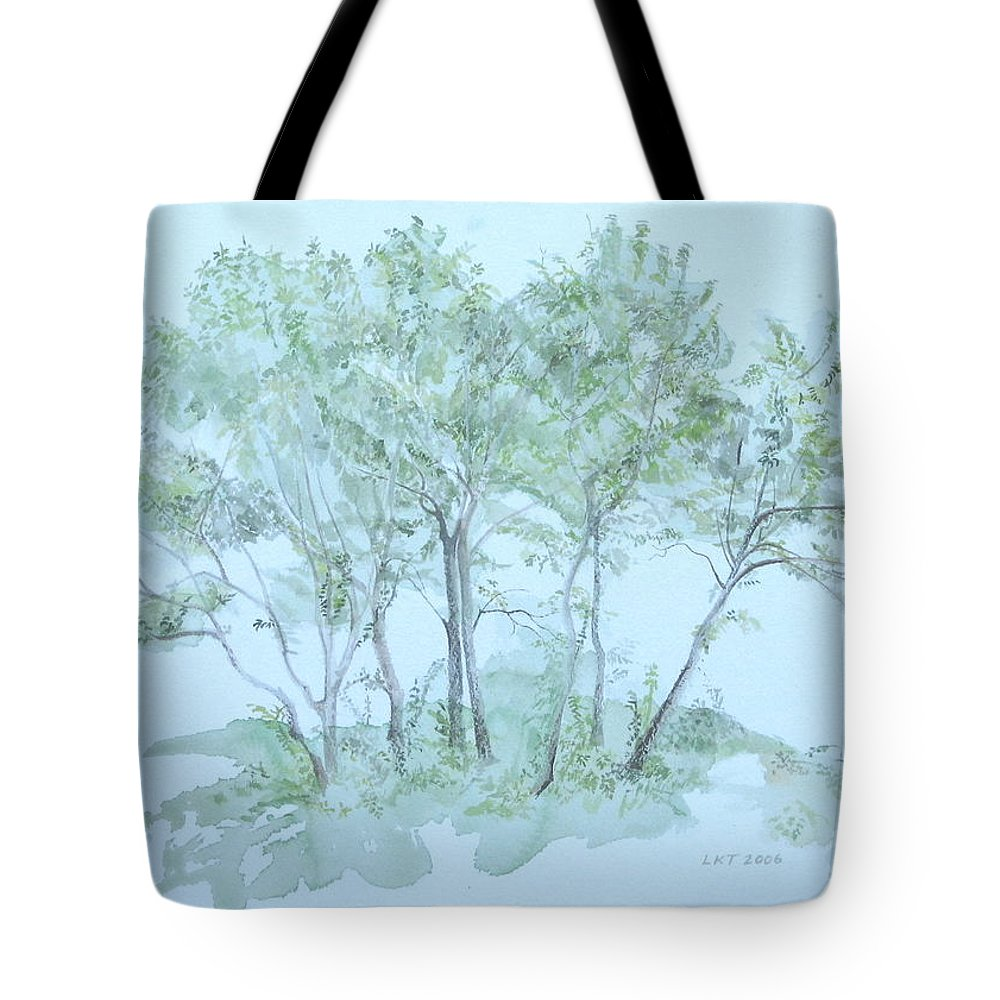 Trees Tote Bag featuring the painting Outer Banks by Leah Tomaino