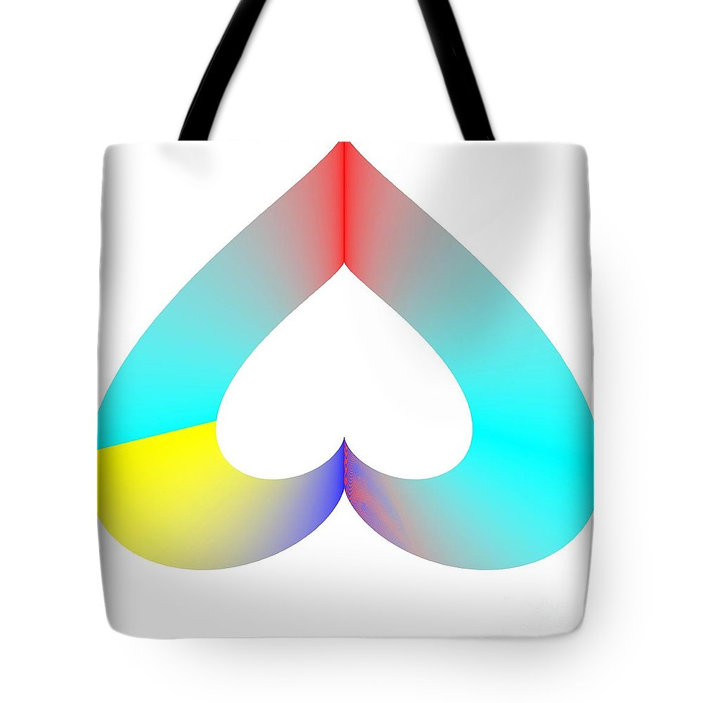 Sos Rainbow Tote Bag featuring the digital art Rainbow Sos by Michael Skinner