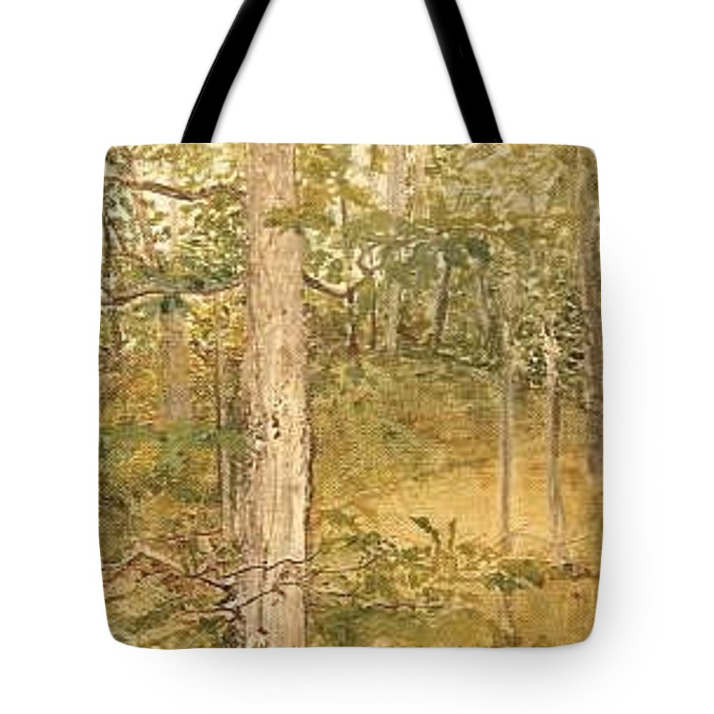 Trees Tote Bag featuring the painting Raystown Lake by Leah Tomaino
