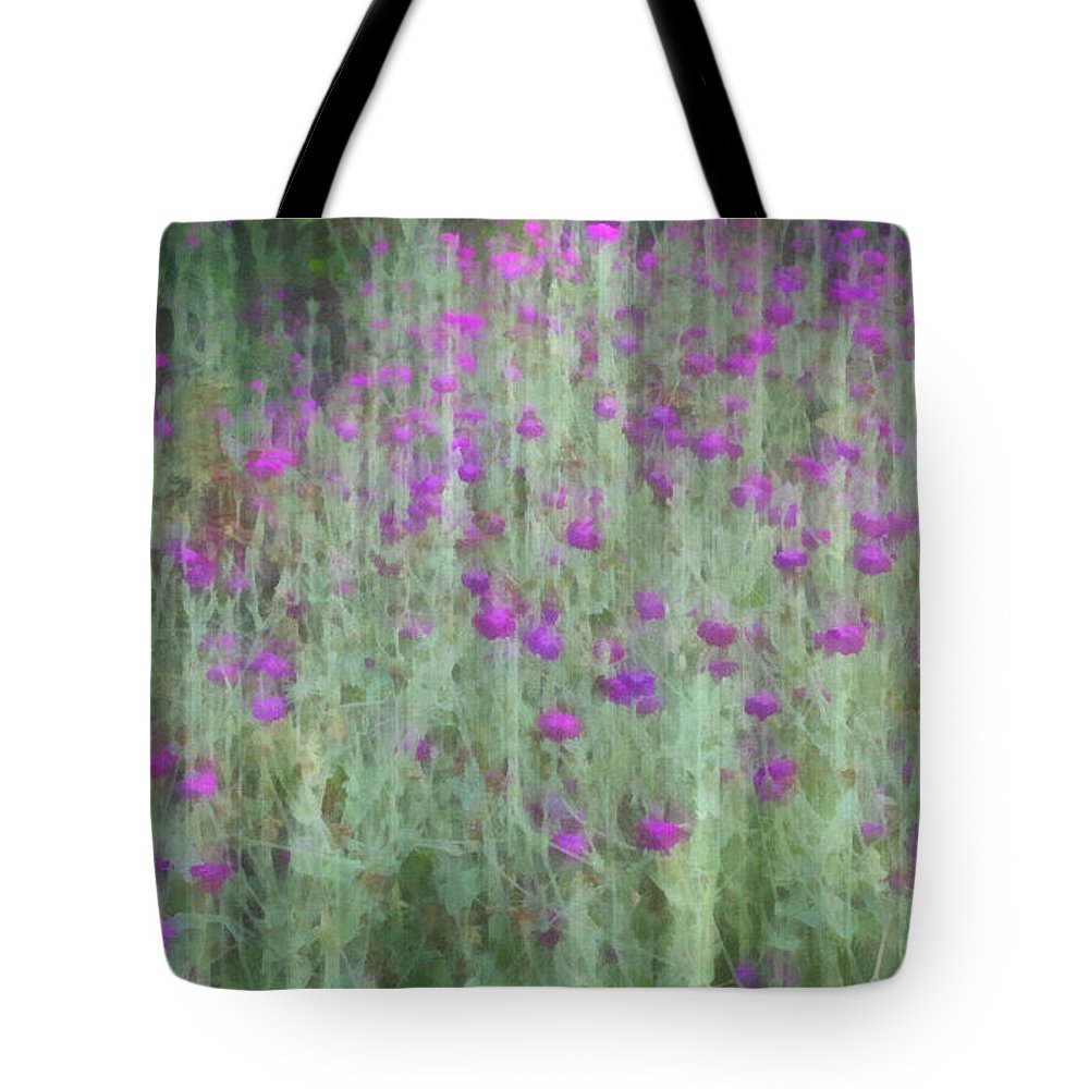 summer garden impression flower art tote bag for sale by ann powell. Black Bedroom Furniture Sets. Home Design Ideas