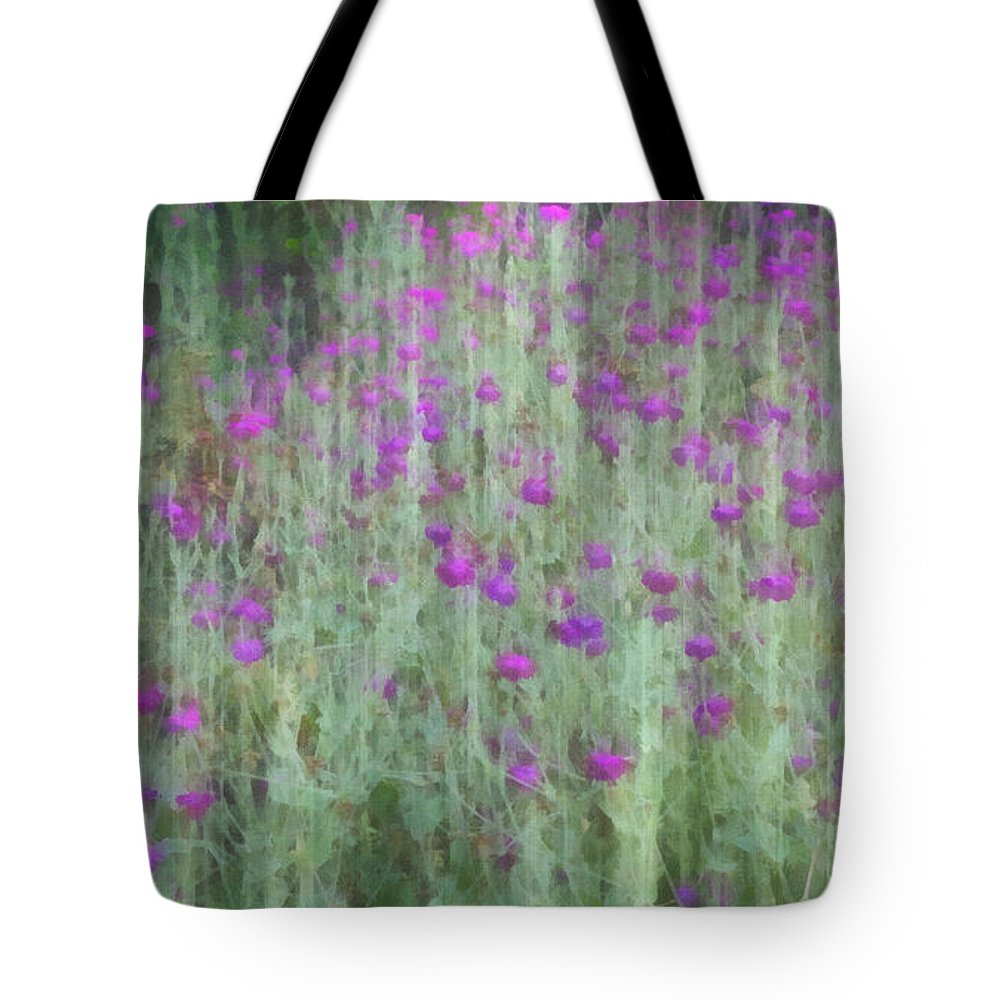 summer garden impression flower art tote bag for sale by ann powell. Black Bedroom Furniture Sets. Home Design Ideas