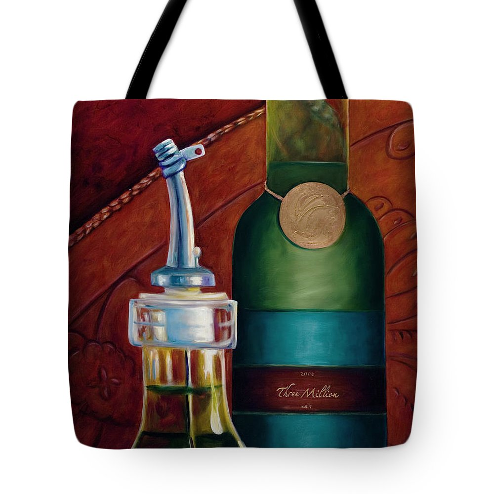 Olive Oil Tote Bag featuring the painting Three Million Net by Shannon Grissom