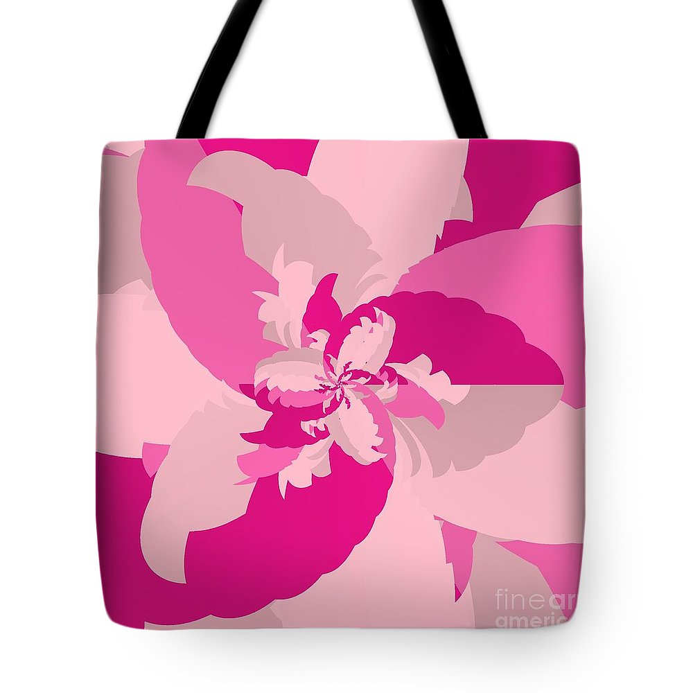 Tropical Pink Tote Bag featuring the digital art Tropical Pink by Michael Skinner