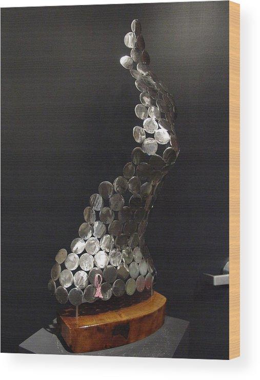 Carol Wood Print featuring the sculpture Carol by Steve Mudge