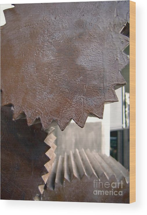 Industry Wood Print featuring the photograph Cylindrical Gears by Yali Shi