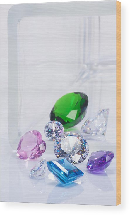 Allure Wood Print featuring the jewelry Beautiful Jewel by Atiketta Sangasaeng