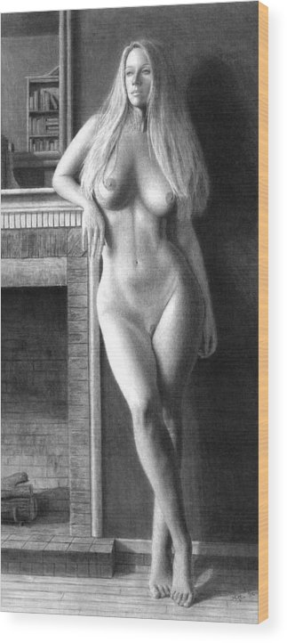 Muse Wood Print featuring the painting The Fire Within Prints Only by Joseph Ogle